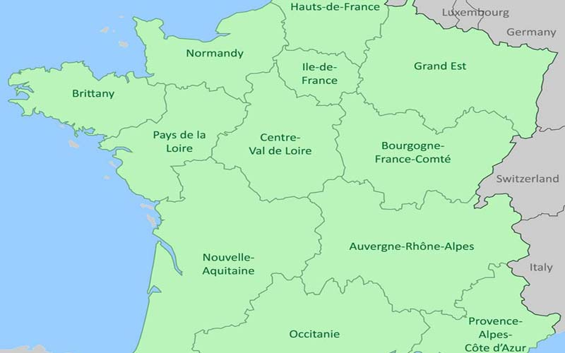 Regions In France Map.France Regions About The 21 Regions Of France By Provence Beyond