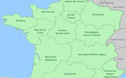 Districts Of France Map.France Regions About The 21 Regions Of France By Provence Beyond