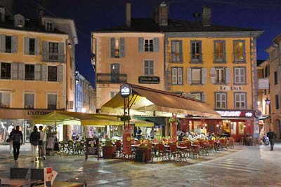 Nighttime on the main square of