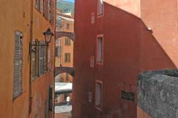 Grasse narrow street photo