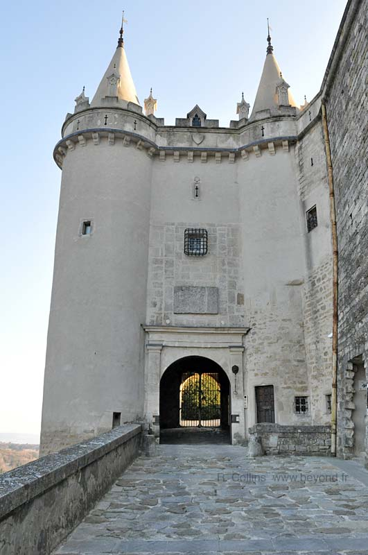 Castle entrance to the Chateau de
