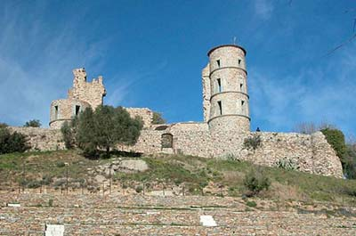 The 11th-century Chateau ruins at