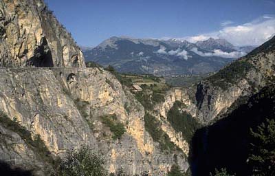 The Gorges de Guil, approaching Guillestre