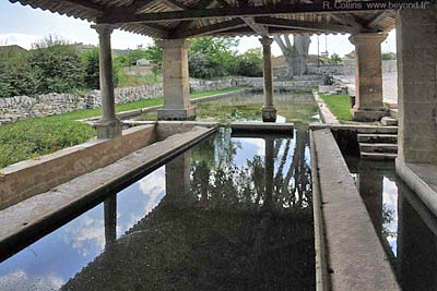 The covered lavoir of Lirac village