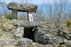One of the Ferrussac dolmens, near