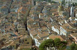 Red roofs of the