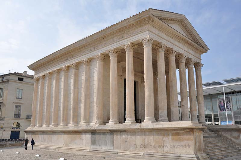 This is the Maison Carrée, a