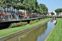 Canal-like Bassa river in the