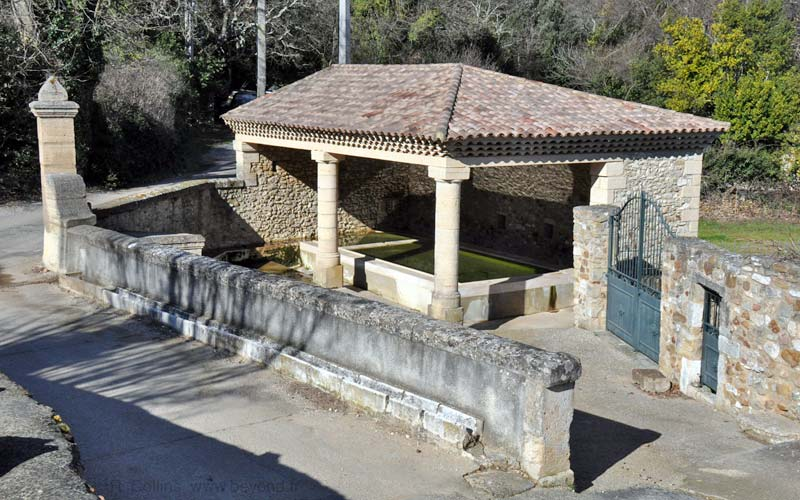 The Pougnadoresse lavoir at the west