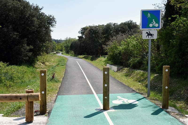 The well maintained cycling path at