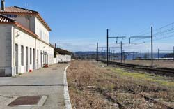 Remoulins' railway station - no longer a