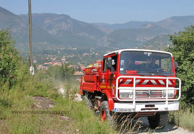 Sospel forestry fire truck hiking photo