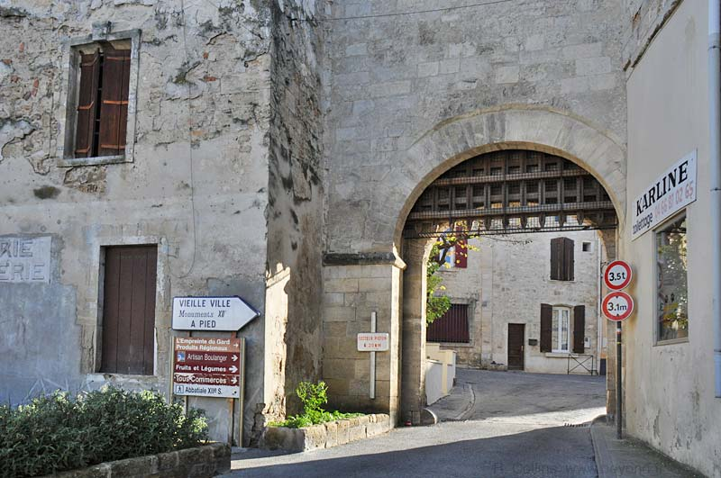 Medieval entry with porticulus in Saint