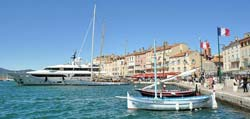 Saint Tropex harbour, yachts and fishing