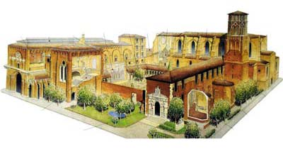 Toulouse Augustins Museum, diagram view