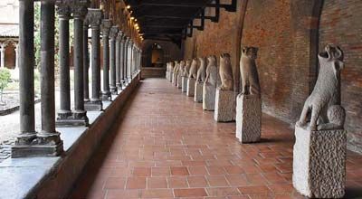 Augustins Museum Cloister, south side with
