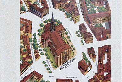 Basilique Saint-Sernin of Toulouse map