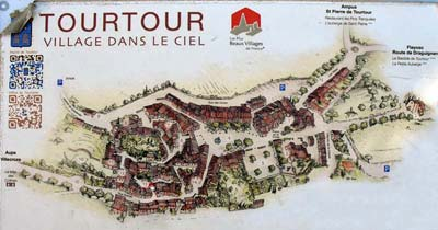 Stylized map of Tourtour, on a