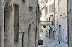 A medieval street in the heart